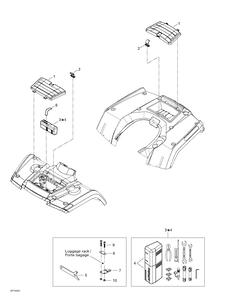 Zeichnung von Ablage (vorne und hinten)