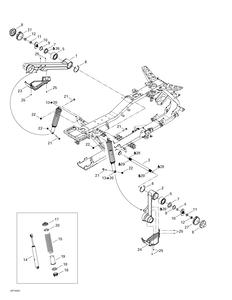 Zeichnung von Aufhängung (hinten)