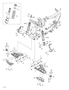 Zeichnung von Aufhängung (vorne)