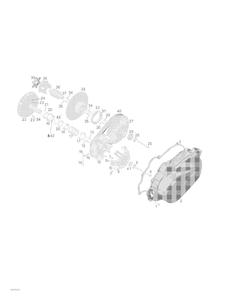 Zeichnung von CVT- Getriebe