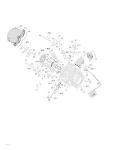 Zeichnung von Zylinderkopf