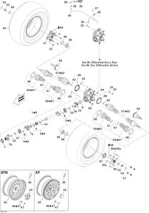 Zeichnung von Antriebssystem (hinten)