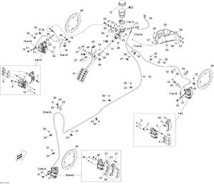 Zeichnung von Bremsen