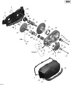 Zeichnung von Getriebe