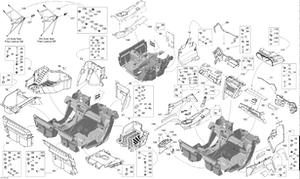 Zeichnung von Innenausstattung