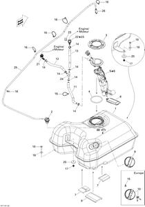 Zeichnung von Kraftstoffsystem
