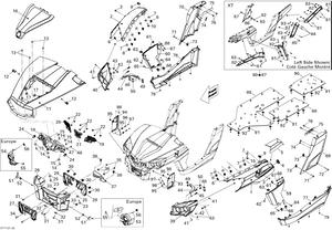 Zeichnung von Rahmen und Zubehör