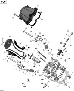 Zeichnung von Zylinderkopf (vorne)