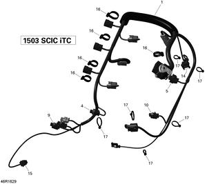 Zeichnung von Kabelbaum (Motor) - 215