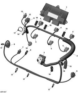 Zeichnung von Kabelbaum (Motor) - 300