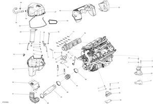 Zeichnung von Motor - GTX S 155