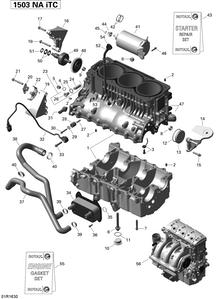 Zeichnung von Motorblock - 155