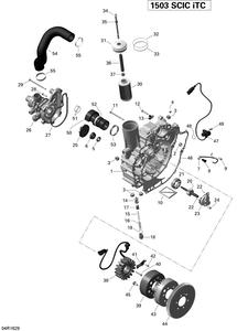 Zeichnung von PTO- Abdeckung und Lichtmaschine - 215