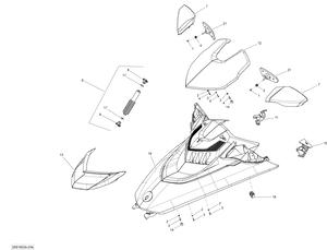 Zeichnung von Verkleidung (vorne) - mit Federung